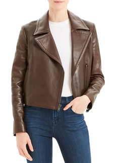 Theory Slim Napa Leather Moto Jacket