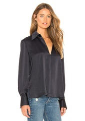 Theory Slit Collar Blouse