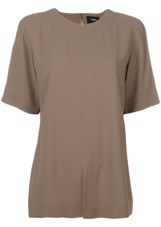 Theory slit hem shortsleeved blouse - Nude & Neutrals