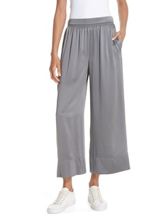 Theory Smocked Vintage Satin Culottes
