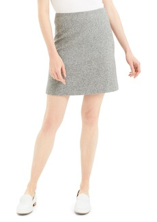 Theory Speckle Wool Easy-Waist Skirt