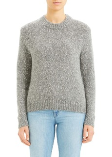 Theory Speckled Tweed Cotton, Wool & Alpaca Sweater