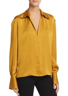 Theory Spread Collar Blouse