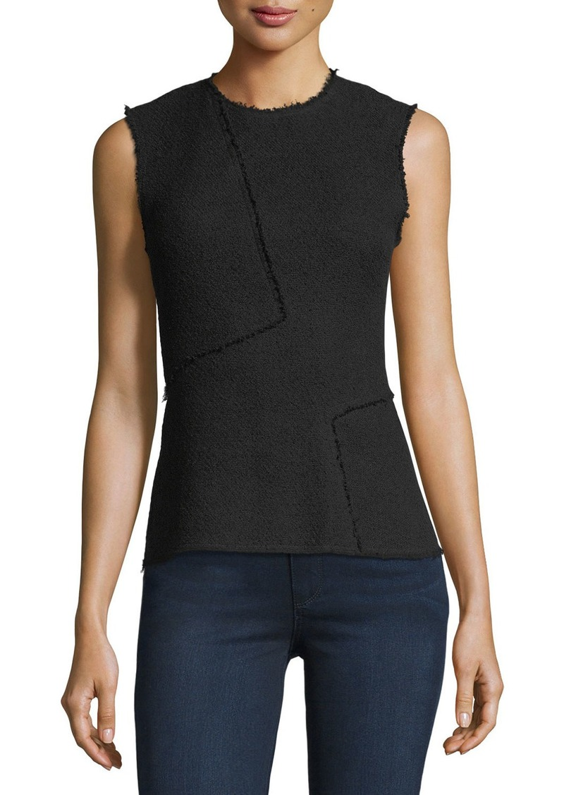 Theory Spring Boucle Seamed Shell Top
