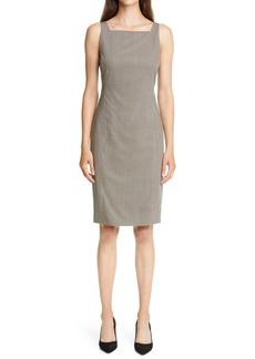 Theory Square Neck Wool Sheath Dress