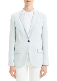 Theory Staple Classic Crepe Single-Button Blazer