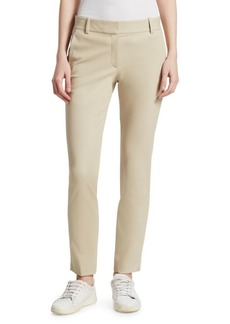 Theory Straight Cotton Trousers
