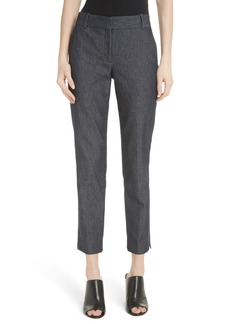 Theory Straight Leg Denim Trousers