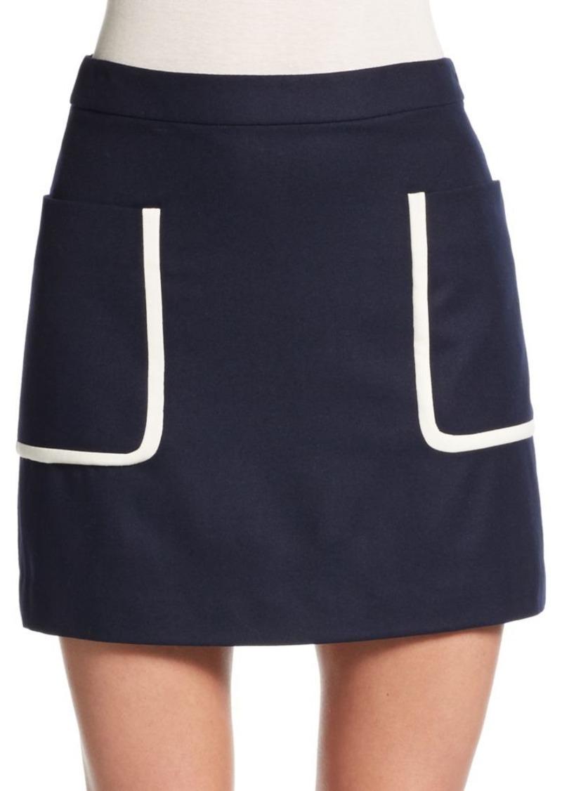Theory Strailia Wool Mini Skirt