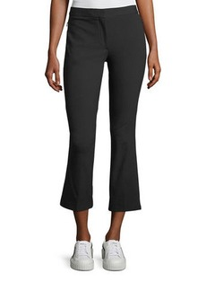 Theory Stretch-Cotton Cropped Kick-Flare Pants