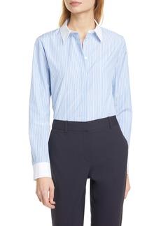 Theory Stretch Pinstripe Button-Up Shirt