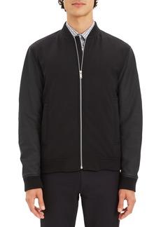 Theory Stretch Wool Bomber Jacket