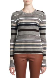 Theory Stripe Crewneck Sweater