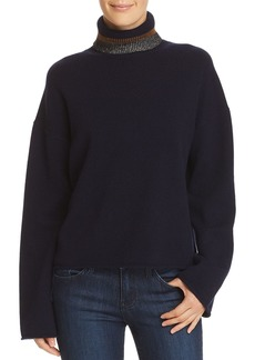 Theory Stripe-Detail Cashmere Turtleneck Sweater - 100% Exclusive