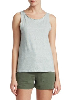 Theory Stripe Linen Tank Top