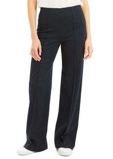 Theory Stripe Seamed Wide Leg Trousers