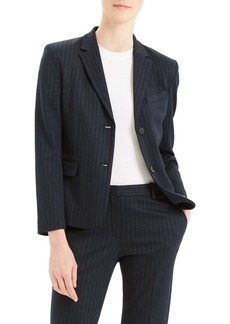 Theory Stripe Shrunken Blazer