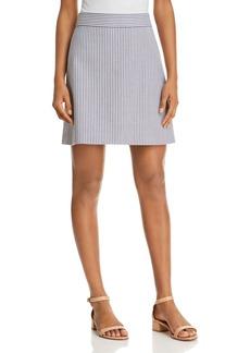 Theory Striped A-Line Skirt