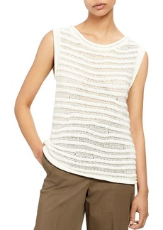 Theory Striped Knit Tank