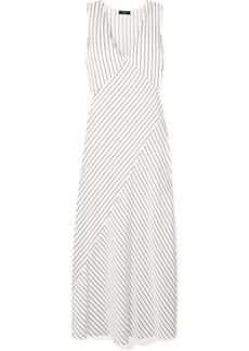 Theory Striped Satin Maxi Dress