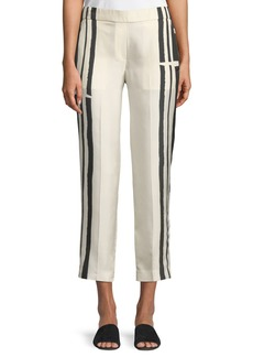 Theory Striped Silk Pull-On Trousers
