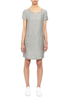 Theory Structured Linen Shift Tee Dress