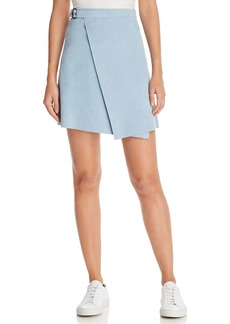 Theory Suede Wrap Mini Skirt