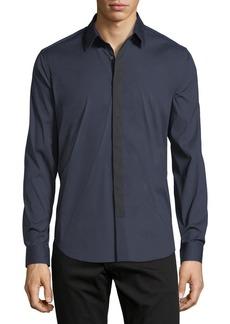 Theory Sullivan Wealth Contrast-Placket Sport Shirt