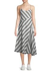 Theory Summer Athens Spaghetti-Strap Striped Dress
