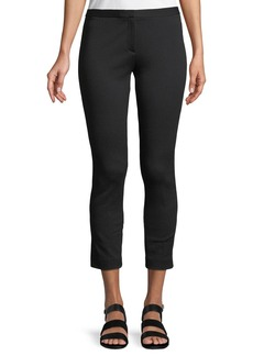 Theory Summer Pique Classic Cropped Skinny Pants