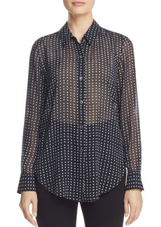 Theory Sunaya Square Dot Blouse
