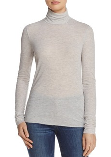 Theory Superslim Ribbed Jersey Turtleneck