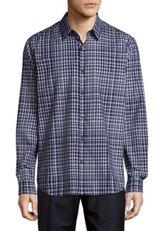 Theory Sylvain Inkster Fading Cotton Casual Button-Down Shirt