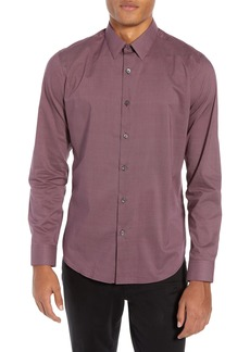 Theory Sylvain Regular Fit Cinder Print Sport Shirt