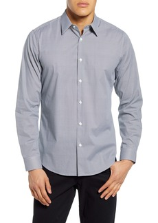 Theory Sylvain Slim Fit Geo Print Button-Up Shirt