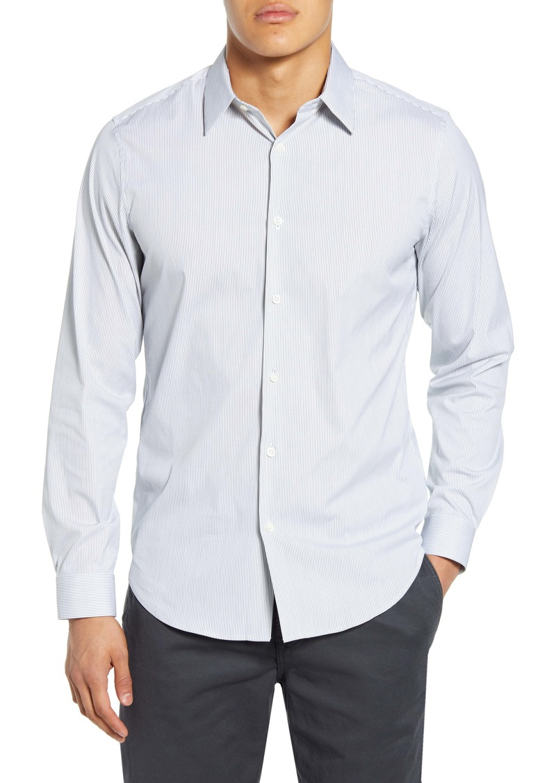 Theory Sylvain Slim Fit Stripe Button-Up Shirt