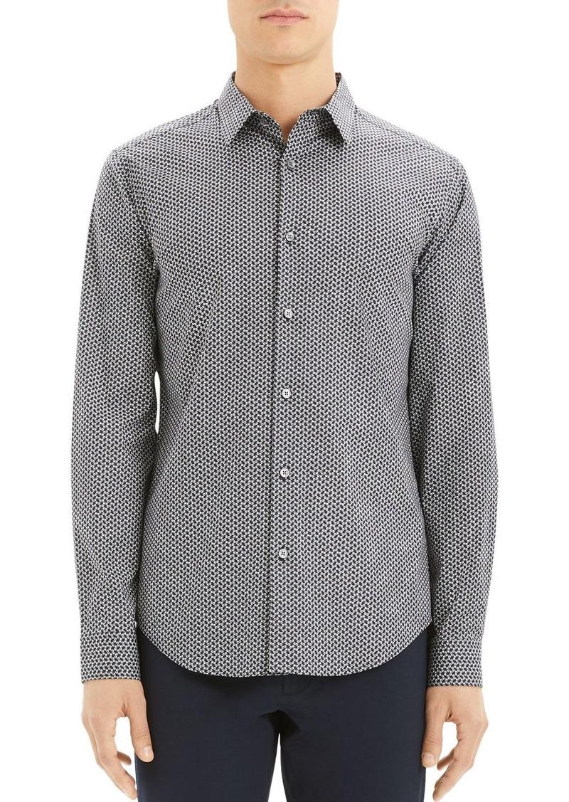 Theory Sylvain Print Slim Fit Shirt