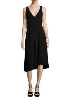 Theory Tadayon B Elevate Crepe Sleeveless Cocktail Dress