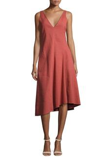 Theory Tadayon New Stretch Linen Midi Dress