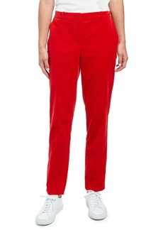 Theory Tailored Straight Leg Stretch Cotton Velvet Trousers