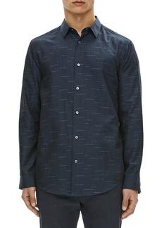 Theory Tait Dash Pattern Cotton Sport Shirt