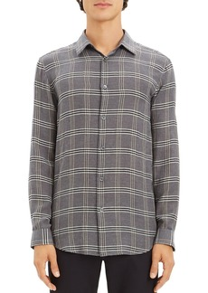 Theory Tait Lightweight Plaid Regular Fit Shirt - 100% Exclusive
