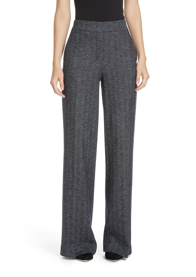 Theory Talbert Chevron Knit Wide Leg Pants