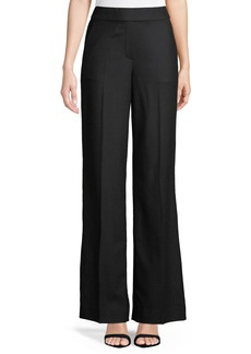Theory Talbert Straight-Leg Crepe Pull-On Pants