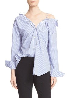 Theory Tamalee Off the Shoulder Shirt