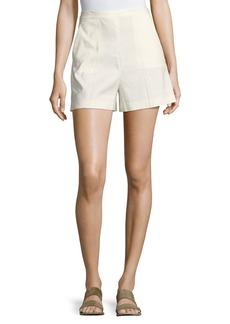 Theory Tarrytown Stretch-Linen High-Waist Shorts