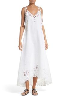 Theory Taytee Cotton & Linen Maxi Dress