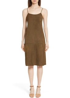 Theory Telson S Metises Suede Slipdress