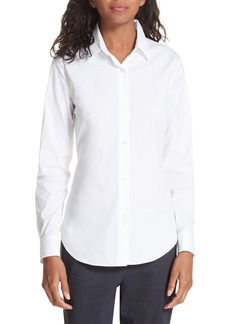 054194558d3369 On Sale today! Theory Tenia silk crepe de chine shirt