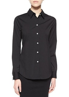 Theory Tenia Long-Sleeve Blouse
